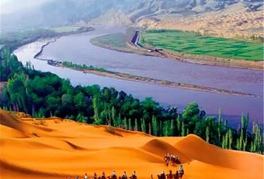 宁夏全境 沙坡头 西夏王陵 腾格里沙漠  羊皮筏子  沙湖 水洞沟 西部影视城(4日行程)