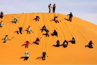 大漠无边 腾格里沙漠徒步越野车冲沙之旅(5日行程)