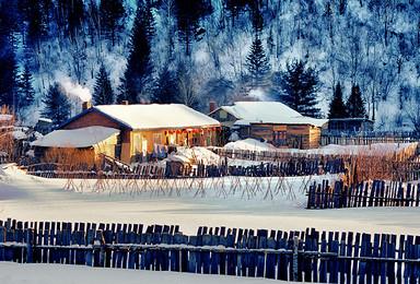 哈尔滨 虎峰岭 横道河子 温泉 狩猎 亚布力阳光度假村滑雪 雪乡(6日行程)
