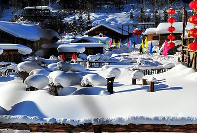 冰雪盛宴 哈尔滨 滑雪 温泉 雪乡穿越 镜泊湖 长白山 雾凇岛(8日行程)