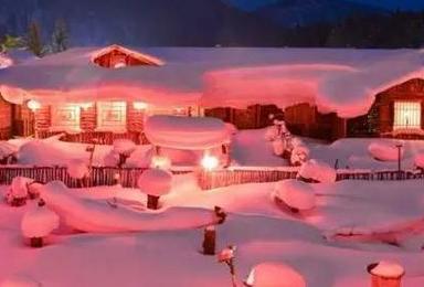 冰雪童话哈尔滨 亚布力滑雪 雪谷穿越 雪乡 老里克湖 长白山 赏雾凇一路下北美丽冻人(7日行程)