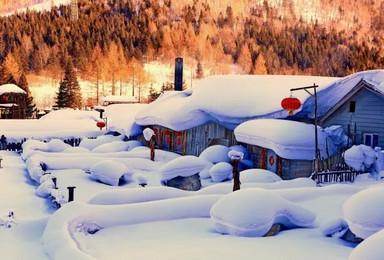 雪谷穿越 童话雪乡 观雾凇 一路向北美丽冻人(8日行程)