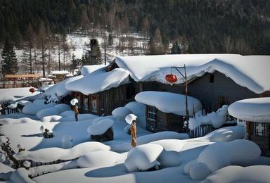 长白山泡温泉 雪乡雪谷滑雪 雾凇岛赏雾凇 雪谷穿越雪乡 镜泊湖休闲摄影游(7日行程)
