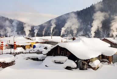 雾凇岛激情滑雪长白山魔界镜泊湖冬捕雪乡穿越林海哈尔滨(6日行程)