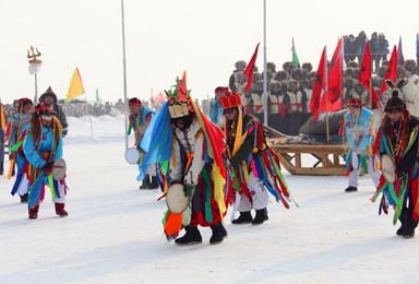 查干湖冬捕 哈尔滨东升徒步穿越雪乡长白山吉林滑雪雾凇岛(9日行程)