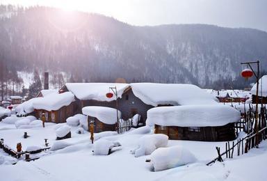 哈尔滨冬季醉美雪线踩线活动安排(6日行程)