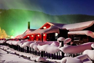雪乡雪谷滑雪 雪谷穿越雪乡 滑雪 休闲摄影游(4日行程)