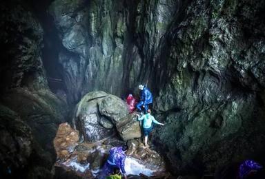 喀斯特地下暗河探险 80米溶洞速降(3日行程)