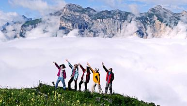 全程轻装 徒步露营九顶山 前山 可送门票(2日行程)