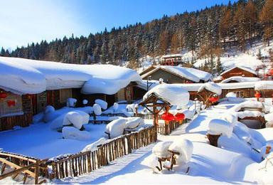 圣诞节元旦雪乡赠送往返火车票 徒步穿越雪谷经典线路(3日行程)