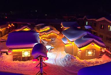 冰城哈尔滨穿越雪乡大美长白山魔界摄影滑雪赏雾凇 踩线特价(7日行程)
