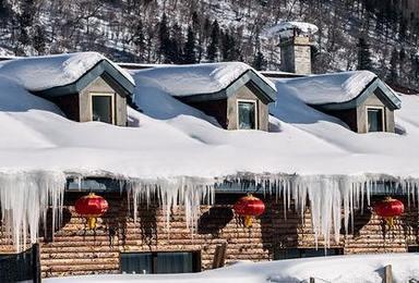 东北雪乡 雪谷 长白山 雾凇岛过个很东北的冬天(7日行程)