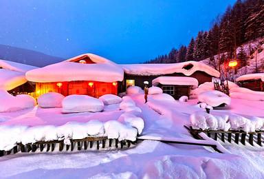 中国雪乡穿越 镜泊湖 长白山温泉 吉林滑雪 雾凇岛(7日行程)