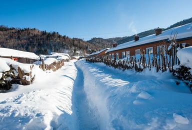 爸爸去哪儿 哈尔滨 雪乡 极地登山车 极限雪飘 马拉爬犁(2日行程)