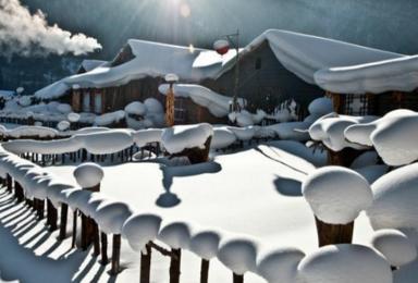 美丽的雪乡雪谷滑雪旅游 哈尔滨 雪谷 雪乡 滑雪 穿越雾凇岛(5日行程)