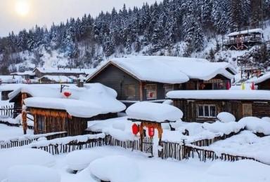 哈尔滨亚布力滑雪雪乡穿越林海长白山魔界雾凇岛豪华游(7日行程)
