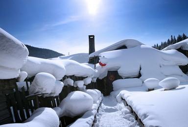 哈尔滨亚布力滑雪二浪河雪乡穿越林海漠河北红村北极村(8日行程)