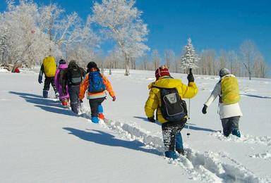 雪乡经典徒步穿越 哈尔滨中国雪谷雪乡 羊草山(3日行程)