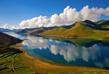 圣洁西藏 纳木错 拉姆拉措 雅鲁藏布江 羊湖 桑耶寺(6日行程)