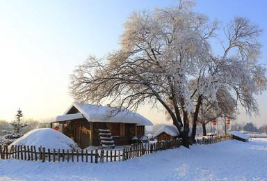 雪乡穿越 双次滑雪 长白山 温泉 魔界 朝鲜民俗村 雾凇岛(7日行程)