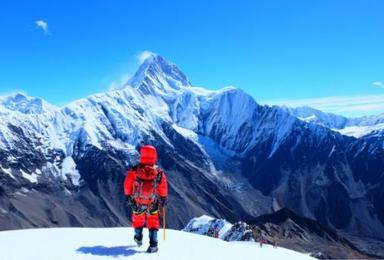 雪山攀登 贡嘎山那玛峰技术攀登5588米(8日行程)