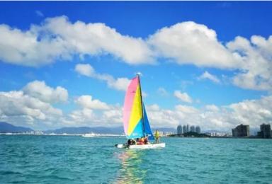 搭伙三亚 潜水冲浪 帆船 椰子采摘 野外生存体验亲子游(5日行程)