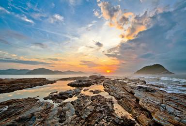 惠东最美黑排角海岸穿越徒步 海边捡贝壳  摄影天堂盐洲岛(1日行程)