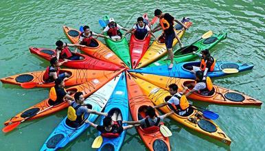 从化流溪河水上运动 皮划艇夏日湿身派对 划船 桨板 休闲运动(1日行程)