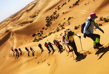 腾格里沙漠徒步 完成自我的挑战(5日行程)