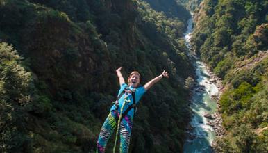 尼泊尔加德满都峡谷秋千 含午餐 接送 极限运动挑战(1日行程)