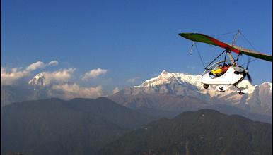 尼泊尔博卡拉 滑翔机 滑翔翼 三角翼 动力小飞机体验(1日行程)