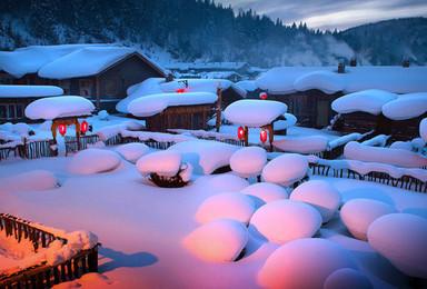 高端玩雪 独家林海雪原穿越 中国雪乡 长白山 老里克湖徒步(7日行程)