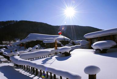 亞布力滑雪風輪雪山徒步雪鄉長白山魔界霧凇島查干湖冬捕(8日行程)