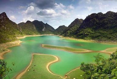 亚洲最大跨国瀑布 德天瀑布  明仕田园 广西涠洲岛 北海银滩(8日行程)