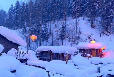穿越雪乡雪谷 羊草山日出 长白山一日 吉林滑雪(7日行程)