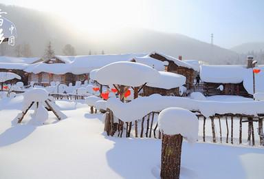 畅游哈尔滨雪谷雪乡穿越长白山温泉吉林滑雪赏雾凇7天(7日行程)