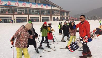玉龙湾滑雪 免费教学 北京周边最大的滑雪场(1日行程)