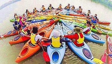 皮划艇、扎筏泅渡、烧烤露营,假期青少年嗨玩水上运动(2日行程)