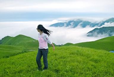 大巴出發醉美武功山爬山 天上草原徒步穿越 看日出日落 觀云海(3日行程)