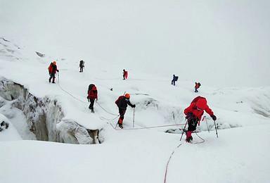 星空亚博体育官网网址探险雀儿山 最美的6000米雪山 2019年攀登计划(8日行程)