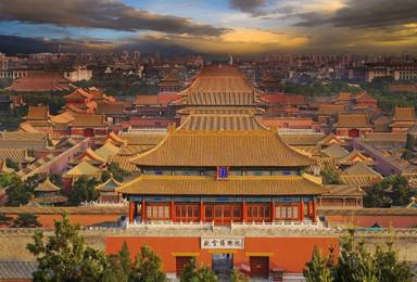 首都北京故宫长城颐和园北大清华圆明园5日游(5日行程)