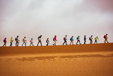 腾格里沙漠穿越之旅-银川-徒步探险-沙漠亲子游硬核5日活动(5日行程)
