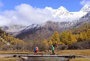 中国十大经典徒步线路之一 四姑娘山长坪沟穿越毕棚沟(5日行程)