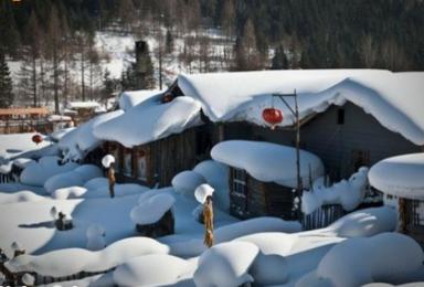 哈尔滨 雪乡雪谷滑雪 雪谷穿越雪乡 吃饺子滑雪(4日行程)