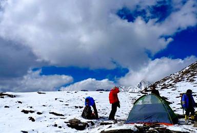 2020四姑娘三峰5355米 第一座技术雪山(4日行程)