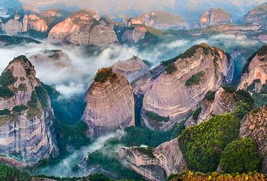 红军老山界穿越-华南之巅猫儿山+资源八角寨至湖南崀山(4日行程)