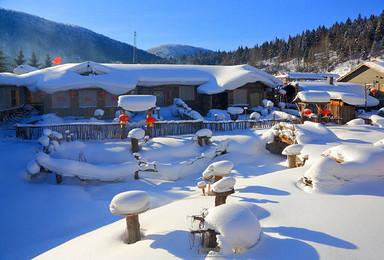 哈尔滨亚布力万科双次滑雪风轮雪山徒步雪乡长白山户外纯玩(8日行程)