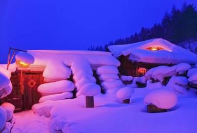 哈尔滨大雪谷穿越镜泊湖冬捕雪乡长白山雾凇岛户外纯玩(7日行程)