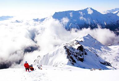 雪峰攀登 四姑娘山 大海子露营 四姑娘山二峰攀登6日(6日行程)
