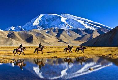 新疆金秋南疆 喀什塔县 罗布人塔克拉玛干 温宿大峡谷慕士塔格(10日行程)